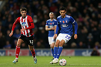Andre Dozzell of Ipswich Town and Ellis Chapman of Lincoln City during Ipswich Town vs Lincoln City, Emirates FA Cup Football at Portman Road on 9th November 2019