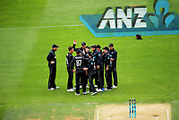 The Black Caps celebrate Tom Latham's catch during the One Day International cricket match between the NZ Black Caps and Pakistan at the Basin Reserve in Wellington, New Zealand on Saturday, 6 January 2018. Photo: Dave Lintott / lintottphoto.co.nz