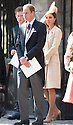 PRINCE WILLIAM ANE KATE LEAVE CANONGATE KIRK IN EDINBURGH AFTER THE WEDDING OF ZARA PHILLIPS AND MIKE TINDALL