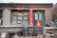 Run down building in a remote village in China