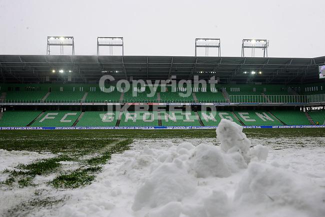 GRONINGEN - Voetbal, FC Groningen - FC Twente, Eredivisie,  stadion Euroborg, seizoen 2013-2014, 26-01-2014,   afgelast