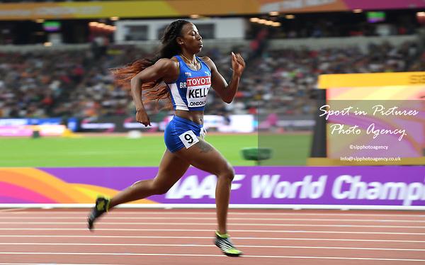 AshleyKELLY (IVB) in the womens 400m semi-final. IAAF world athletics championships. London Olympic stadium. Queen Elizabeth Olympic park. Stratford. London. UK. 07/08/2017. ~ MANDATORY CREDIT Garry Bowden/SIPPA - NO UNAUTHORISED USE - +44 7837 394578