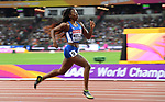 Ashley KELLY (IVB) in the womens 400m semi-final. IAAF world athletics championships. London Olympic stadium. Queen Elizabeth Olympic park. Stratford. London. UK. 07/08/2017. ~ MANDATORY CREDIT Garry Bowden/SIPPA - NO UNAUTHORISED USE - +44 7837 394578
