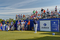 Padraig Harrington (IRL) watches his tee shot on 1 during Round 3 of the Zurich Classic of New Orl, TPC Louisiana, Avondale, Louisiana, USA. 4/28/2018.<br /> Picture: Golffile | Ken Murray<br /> <br /> <br /> All photo usage must carry mandatory copyright credit (&copy; Golffile | Ken Murray)