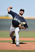 Seattle Mariners pitcher Kody Kerski (29) during an Instructional League game against the Cleveland Indians on October 1, 2014 at Goodyear Training Complex in Goodyear, Arizona.  (Mike Janes/Four Seam Images)