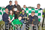 BEST OF LUCK: Milltown-Castlemaine GAA Club President Jack Hayes (front right) wishes captain Damien Murphy all the best in next Sunday's All-Ireland, pictured with players and supporters, .... OWEN TO FINISH