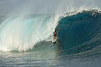 Sunday August 15, 2010. Free surfing at Teahupo'o Tahiti, French Polynesia.  Inconsistent 5-'6' swell. Photo: joliphotos.com