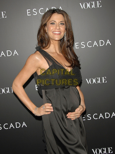 SAMANTHA HARRIS.The Grand Opening of The Escada Beverly Hills Flagship Boutique at The Beverly Wilshire Hotel in Beverly Hills, California, USA. .May 3rd, 2007.half length black dress hand on hip stomach pregnant .CAP/DVS.©Debbie VanStory/Capital Pictures