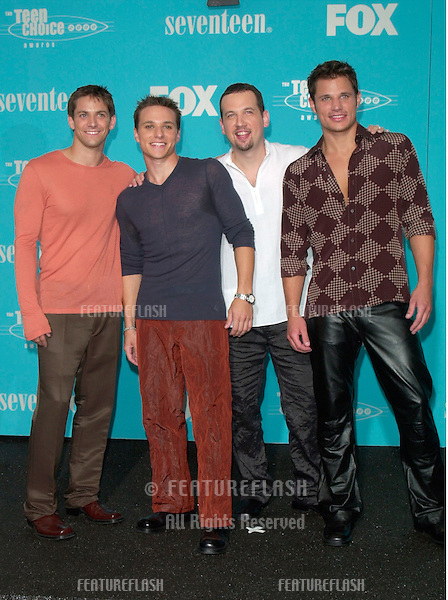Pop group 98 Degrees at the Teen Choice Awards in Santa Monica, California..