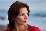 Mature woman at beach, close-up
