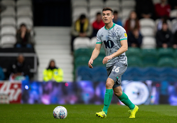 Blackburn Rovers' Darragh Lenihan <br /> <br /> Photographer Andrew Kearns/CameraSport<br /> <br /> The EFL Sky Bet Championship - Queens Park Rangers v Blackburn Rovers - Saturday 5th October 2019 - Loftus Road - London<br /> <br /> World Copyright © 2019 CameraSport. All rights reserved. 43 Linden Ave. Countesthorpe. Leicester. England. LE8 5PG - Tel: +44 (0) 116 277 4147 - admin@camerasport.com - www.camerasport.com