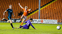 Blackpool's Mark Cullen beats West Bromwich Albion U21&rsquo;s Jonathan Bond but fails to find the back of the net<br /> <br /> Photographer Alex Dodd/CameraSport<br /> <br /> The EFL Checkatrade Trophy Northern Group C - Blackpool v West Bromwich Albion U21 - Tuesday 9th October 2018 - Bloomfield Road - Blackpool<br />  <br /> World Copyright &copy; 2018 CameraSport. All rights reserved. 43 Linden Ave. Countesthorpe. Leicester. England. LE8 5PG - Tel: +44 (0) 116 277 4147 - admin@camerasport.com - www.camerasport.com