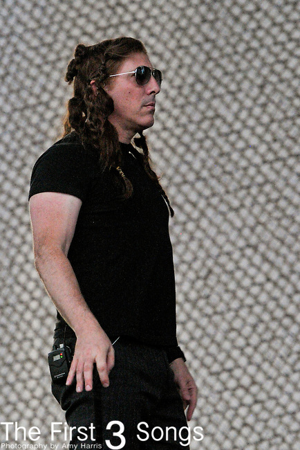 Maynard James Keenan of A Perfect Circle performs during day 2 of the 2011 Kanrocksas Music Festival at Kansas Speedway in Kansas City, Kansas on August 6, 2011.