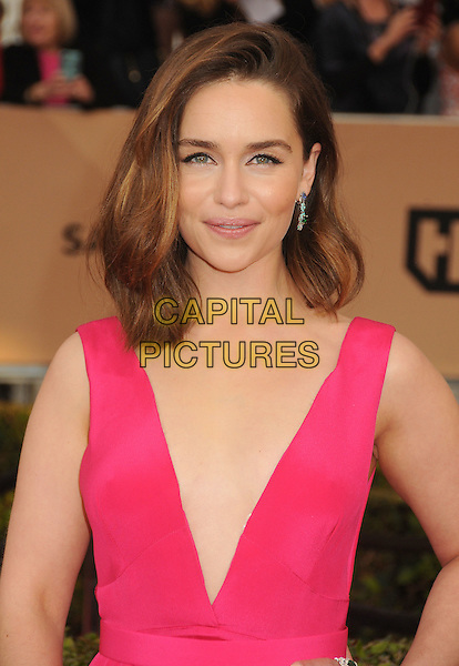 30 January 2016 - Los Angeles, California - Emilia Clarke. 22nd Annual Screen Actors Guild Awards held at The Shrine Auditorium.      <br /> CAP/ADM/BP<br /> &copy;BP/ADM/Capital Pictures