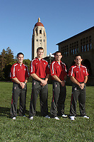 STANFORD, CA - OCTOBER 7:  Jason Borrelli, Ray Blake, Matt Gentry, and Vic Moreno of the Stanford Cardinal on picture day on October 7, 2009 in Stanford, California.