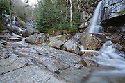 Cascades on Dry Brook along the Falling Waters Trail in the White Mountains, New Hampshire.