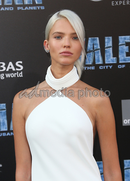 "17 July 2017 - Hollywood, California - Sasha Luss. ""Valerian and the City of a Thousand Planets"" World Premiere held at TCL Chinese Theatre. Photo Credit: AdMedia. Photo Credit: F. SadouAdMedia"