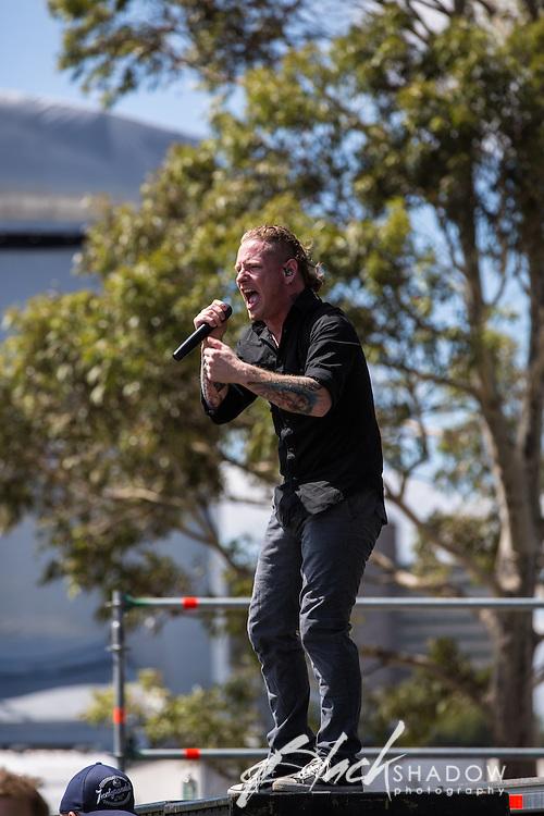Stone Sour featuring Slipknot lead singer Corey Taylor performing at Soundwave Festival 2013, Flemington Racecouse, Melbourne, 1 March 2013