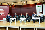 "BRUSSELS - BELGIUM - 09 April 2018 -- German Association of the Fruit, Vegetable and Potato Processing Industry (BOGK) Der Bundesverband der obst-, gemuese- und kartoffelverarbeitenden Industrie e. V. -- Podium discussion ""At the end, what is quality?"" -- (f. left) Ulrich Nehring, NEHRING Consultants GmbH; Michael Warburg, IW – Institut Warburg; Hans-Juergen Moritz, Journalist, MEP Renate Sommer; Tim Gumbel, EU-Kommission, stellv. Referatsleiter DG SANTE and Beate Kettlitz, FoodDrinkEurope, Direktorin für Lebensmittelpolitik, Wissenschaft und F & E . -- PHOTO: Juha ROININEN / EUP-IMAGES"