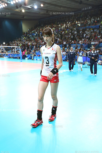 Saori Kimura (JPN), OCTOBER 4, 2014 - Volleyball : Saori Kimura of Japan leaves the court after losing the FIVB Volleyball Women's World Championship Second Round Pool E match between Italy 3-0 Japan at PalaFlorio in Bari, Italy. (Photo by Takahisa Hirano/AFLO)