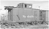 Caboose #0500 in disrepair.<br /> D&amp;RGW  Alamosa, CO  Taken by Richardson, Robert W. - 1/1905