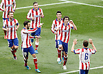 Atletico de Madrid's Gabi Fernandez, Jesus Gamez, Jose Maria Gimenez, Raul Jimenez, Tiago Mendes and Koke Resurrecccion celebrate goal during La Liga match.March 21,2015. (ALTERPHOTOS/Acero)