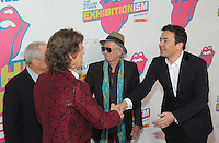 NEW YORK, NY - NOVEMBER 15: Jimmy Fallon, Keith Richards, Mick Jagger and  Lorne Michaels attends The Rolling Stones Exhibitionism opening night at Industria Superstudio on November 15, 2016 in New York City. Photo by John Palmer MediaPunch