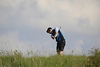 Ryan McKinstry (Cairndhu) on the 2nd tee during Round 2 of the East of Ireland Amateur Open Championship 2018 at Co. Louth Golf Club, Baltray, Co. Louth on Sunday 3rd June 2018.<br /> Picture:  Thos Caffrey / Golffile<br /> <br /> All photo usage must carry mandatory copyright credit (&copy; Golffile | Thos Caffrey)