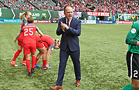 Portland, OR - Saturday April 29, 2017: Mark Parsons prior to a regular season National Women's Soccer League (NWSL) match between the Portland Thorns FC and the Chicago Red Stars at Providence Park.