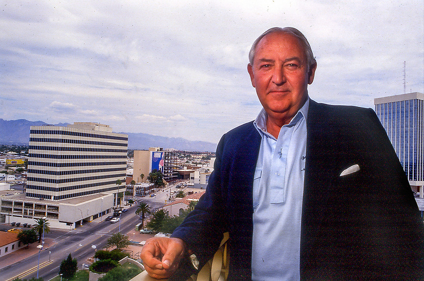 Mayor Lewis C. Murphy, in a photo taken on October 12, 1987, poses in his City Hall office overlooking downtown.