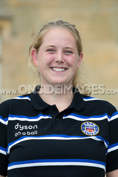 Kate Burke poses for a portrait at a Bath Rugby photocall. Bath Rugby Media Day on August 28, 2014 at Farleigh House in Bath, England. Photo by: Rogan Thomson for Onside Images