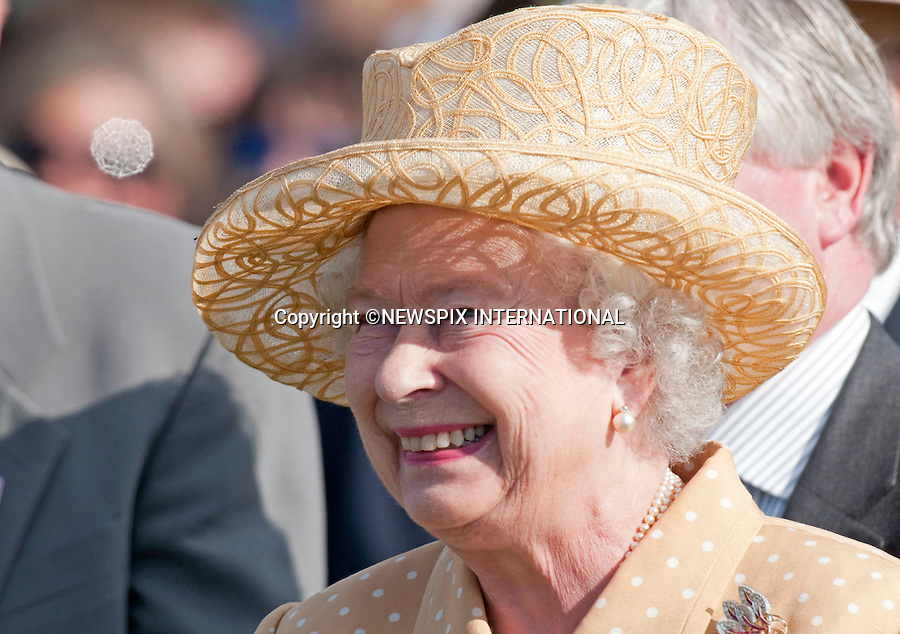 """QUEEN.The Queen having celebrated her Official Birthday yesterday was at Guards Polo Club for the Queen's Cup Final..Also present were Prince Phillip and Andrew Parker Bowles, Smith's Lawn, Windsor_14/06/2009.Mandatory Photo Credit: ©Dias/Newspix International..**ALL FEES PAYABLE TO: """"NEWSPIX INTERNATIONAL""""**..PHOTO CREDIT MANDATORY!!: NEWSPIX INTERNATIONAL(Failure to credit will incur a surcharge of 100% of reproduction fees)..IMMEDIATE CONFIRMATION OF USAGE REQUIRED:.Newspix International, 31 Chinnery Hill, Bishop's Stortford, ENGLAND CM23 3PS.Tel:+441279 324672  ; Fax: +441279656877.Mobile:  0777568 1153.e-mail: info@newspixinternational.co.uk"""