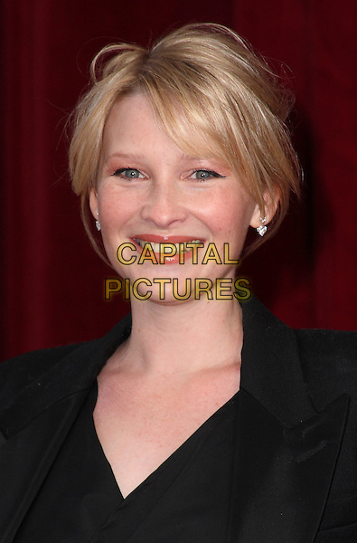 JOANNA PAGE.'An Audience with Michael Buble' at the London ITV Studios, South Bank, London, England..May 3rd, 2010.headshot portrait black smiling  .CAP/JIL.©Jill Mayhew/Capital Pictures.
