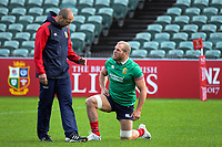 Assistant coach Steve Borthwick talks to James Haskell during the 2017 DHL Lions Series rugby union  British & Irish Lions captain's run at QBE Stadium in Albany New Zealand on Tuesday, 6 June 2017. Photo: Dave Lintott / lintottphoto.co.nz