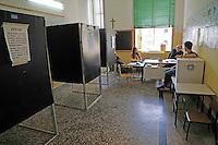 Referendum popolare 2016 per il divieto di future trivellazioni petrolifere nei territori  Italiani<br /> un seggio vuoto