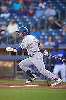 Midland RockHounds second baseman Colin Walsh (6) at bat during a game against the Tulsa Drillers on June 2, 2015 at Oneok Field in Tulsa, Oklahoma.  Midland defeated Tulsa 6-5.  (Mike Janes/Four Seam Images)