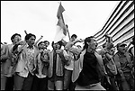 Summer '98-- Jakarta, Indonesia -- A group of students protest  against President Suharto at the MPR.