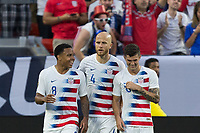 CLEVELAND, OHIO - JUNE 22: Weston McKennie, Michael Bradley, Christian Pulisic during a 2019 CONCACAF Gold Cup group D match between the United States and Trinidad & Tobago at FirstEnergy Stadium on June 22, 2019 in Cleveland, Ohio.