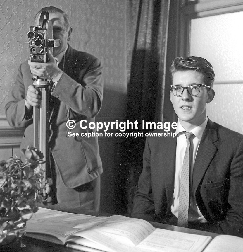 Trevor McBride, photographer, Londonderry, N Ireland, with television news cameraman, freelance, Jock Stirling. 1967. 1967000063.<br />