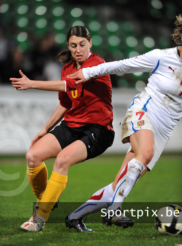 Belgium - Czech Republic : Audrey Demoustier.foto DAVID CATRY / Vrouwenteam.be