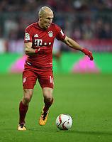 FUSSBALL  1. BUNDESLIGA  SAISON 2015/2016  24. SPIELTAG FC Bayern Muenchen - 1. FSV Mainz 05       02.03.2016 Arjen Robben (FC Bayern Muenchen) am Ball