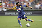 25 July 2007:  Ismael Rodriguez (2) of Club America.  Club America was defeated by the Houston Dynamo 0-1 at Robertson Stadium in Houston, Texas, in a first round SuperLiga 2007 match.