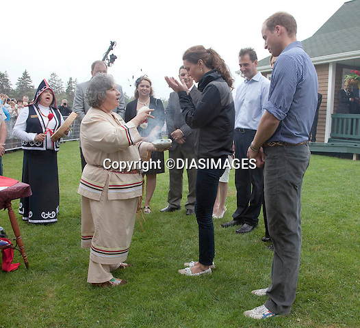 "PRINCE WILLIAM & KATE.take part in a Smudging Ceremony by the Mi'Kmaq Tribe,  Dalvey Lake, Dalvey-by-Sea, Prince Edward Island_04/07/2011.Mandatory Credit Photo: ©DIASIMAGES..**ALL FEES PAYABLE TO: ""NEWSPIX INTERNATIONAL""**.No UK Sales usage until 01/08/2011.IMMEDIATE CONFIRMATION OF USAGE REQUIRED:.DiasImages, 31a Chinnery Hill, Bishop's Stortford, ENGLAND CM23 3PS.Tel:+441279 324672  ; Fax: +441279656877.Mobile:  07775681153.e-mail: info@newspixinternational.co.uk"