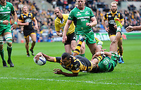 Kurtley Beale of Wasps reaches for the try-line. European Rugby Champions Cup match, between Wasps and Connacht Rugby on December 11, 2016 at the Ricoh Arena in Coventry, England. Photo by: Patrick Khachfe / JMP