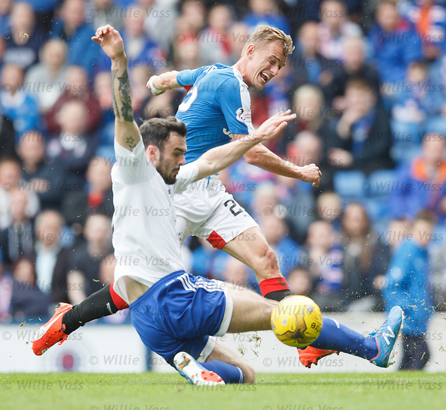 Dean Shiels has a shot