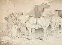 BNPS.co.uk (01202 558833)<br /> Pic: SalonDuDessin/BNPS<br /> <br /> Th&eacute;odore G&eacute;ricault - 'Horses and farm'<br /> <br /> A exhibition reveals the brilliant technique behind some of the worlds greatest artists - as their stunning drawings come up for auction.<br /> <br /> Preparatory sketches are for most people nowadays the only way to ever own an original work by a famous artist and more than 1,000 drawings from some of the world's most famous have emerged on the market.<br /> <br /> The remarkable collection, which features drawings and preparatory sketches by Henri Matisse, Pablo Picasso, Edgar Degas and Salvador Dali, will be showcased at the six-day Salon Du Dessin exhibition in Paris in March.<br /> <br /> Notable works are tipped to sell for hundreds of thousands of euros and the overall value of the collection is estimated at 25-30 million euros.<br /> <br /> Drawings have become increasingly collectible in the past 10 years as they are seen as a more affordable way of getting hold of works from the art greats.<br /> <br /> Included in the sale are Matisse's 1944 drawing of 'apples' with pen and ink on paper, Degas' 'dancer' with charcoal on paper, Picasso's 'women with flowers' with pen and red pencil on paper and Dali's 'Madonna with Christ' using watercolour, ink and a ball-point pen.<br /> <br /> Degas' sketch of a dancer bares a striking resemblance to his famous sculpture of The Little Fourteen-Year-Old Dancer in 1881.