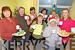TEA'S UP: Serving up the coffee at the Killorglin Family Resource Centre in aid of Brú Columbanus last Thursday were, l-r: Margaret Mangan, Helena Morris, Kathleen Morris, Maureen Gamble, Margaret Wrenn, Breda O'Sullivan, Mary O'Sullivan, Eileen Quirke.