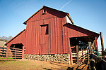 Red wooden barn, Calaveras County, Calif.