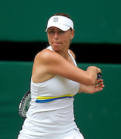 Vera Zvonareva (RUS) (21) against Tsvetana Pironkova (BUL) in the semi-finals of the ladies singles. Vera Zvonareva beat Tsvetana Pironkova 3-6 6-3 6-2   ..Tennis - Wimbledon Lawn Tennis Championships - Day 11 Fri 2nd Jul 2010 -  All England Lawn Tennis and Croquet Club - Wimbledon - London - England..© FREY - AMN IMAGES  Level 1, Barry House, 20-22 Worple Road, London, SW19 4DH.TEL - +44 (0) 20 8947 0100.Email - mfrey@advantagemedianet.com.www.advantagemedianet.com