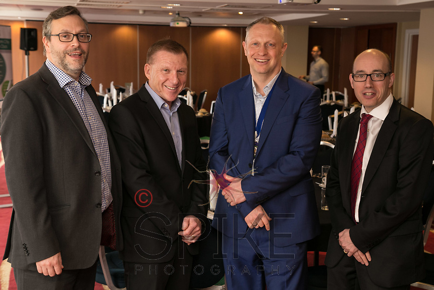 Pictured from left are Rob Wallwark of sponsors Buckles Solicitors, speaker John Van de Laarschot, Club President Mark Deakin and Luke Appleby of Buckles Solicitors